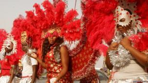 Women in colourful costumes. Picture: Ademola Akinlabi