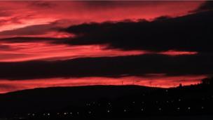 Sunrise over Ayrshire
