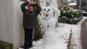 Ollie and his snow Mobot!
