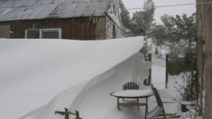 A snowdrift