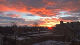 Sunset over Carluke