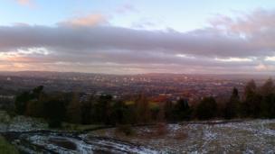 View of Glasgow skyline
