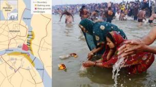 Bathing crowds