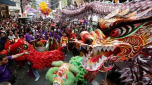 Parade in Manila.