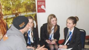 Stoke Damerel Community College School Reporters interview Ben Mee
