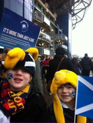 Murray and Nathan at Murrayfield