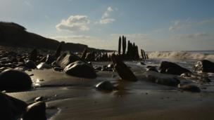 James Hopkins took this photo of Llanrhystud beach near Aberystwyth while walking along the coast path.
