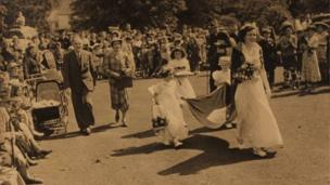 Town festival, photograph undated