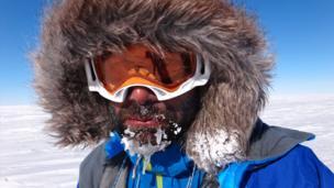 Richard Parks in Antarctica