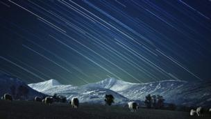 Brecon Beacons National Park with star trails. Image by Michael Sinclair