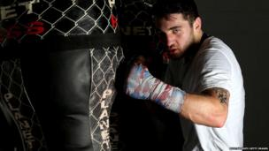 Nathan Cleverly during a media work out in Aberbargoed in February 2013