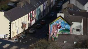 A mural in the village of Cushendall in north Antrim commemorates 100 years of the local Gaelic Athletic Club