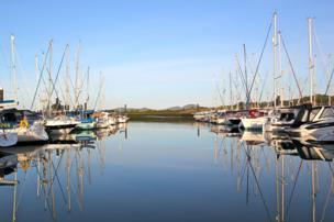 Paul Shearer from Cheshire sent in this photo of reflective waters at the marina in Pwllheli, Gwynedd.