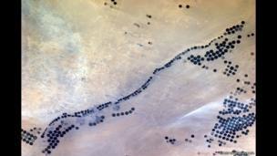 Centre-pivot irrigation farms mining an ancient reef of deep water