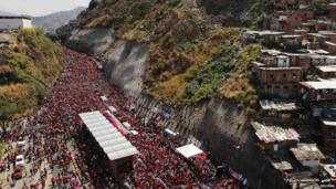 Procession through the streets of Caracas - 6 March