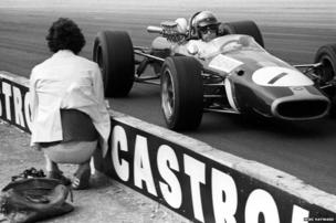 Jack Brabham on the way to second place in his Brabham Repco BT24
