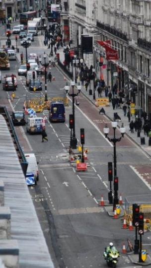 Road works on Regent Street