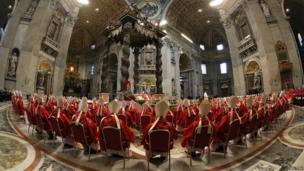 Cardinals at Mass