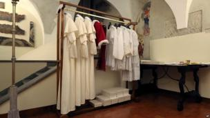 Outfits for the new Pope's first public appearance