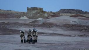 Members of Crew 125 EuroMoonMars B mission