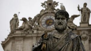 Statue of St Peter at the Vatican