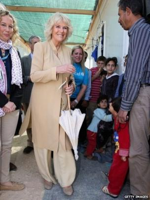 Duchess of Cornwall meets refugees as she visits the King Abdullah camp in Jordan.
