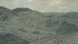Italian landscape by Elsi Eldridge, 1934, Private Collection