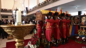Casket removed from military academy. 15 March 2013