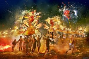 Fire Dragon of Fung Shun by Gilbert Yu