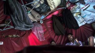 Protest tent in Yemeni capital