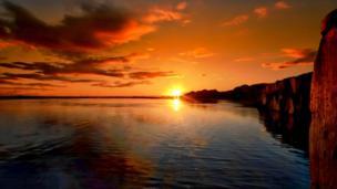 Sunset at Pembrey Saltings