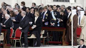 Heads of state and government attend Pope Francis' inaugural Mass