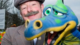 Ritchie McClelland and dragon