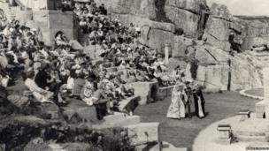 The Minack Theatre in the 1960s