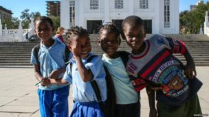 Children in Maputo