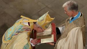 Archbishop Welby during his enthronement.