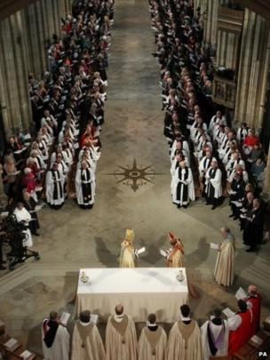 Archbishop of Canterbury during his enthronement