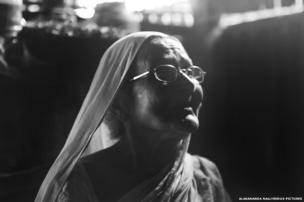 Sadhana Chakravarty in her kitchen