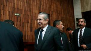 Former Guatemalan dictator Efrain Rios Montt in the Supreme Court of Justice