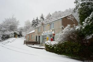 Rowen, Conwy, in the snow