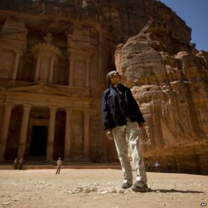 US President Barack Obama at the ruins of Petra in Jordan, 23 March