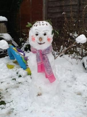 Snowman. Photo: Sofia Trelawny