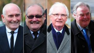 Composite image of Tommy Cannon, Bobby Ball, Syd Little and Eddie Large