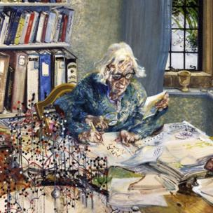 Dorothy Hodgkin by Maggie Hambling: National Portrait Gallery
