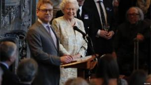The Queen with Sir Kenneth Branagh