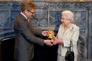 The Queen receives an honorary Bafta from Kenneth Branagh