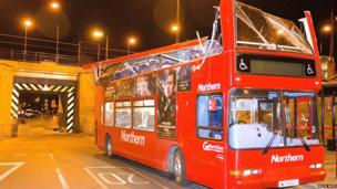 Damaged double decker bus: Photo: Mick Adie