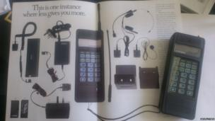 Mobile phone and catalogue of accessories. Photo: Geoff Dykes