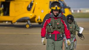 Members of the RAF search and rescue team