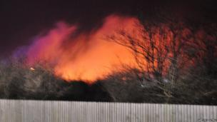 Fire at Siddick Ponds. Photo: Gary McKeating